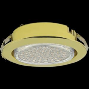 Ecola GX53 DL Светильник Встраиваемый (для твер. пов. и мебели) Золото  26х103
