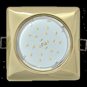 Ecola GX53 H4  Square светильник квадратный без рефл. Золото 107x41 (к+)