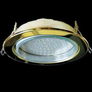 Ecola GX70-H5 светильник золото встр. без рефл. 53x151 (кd135)