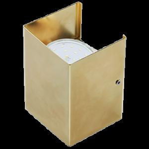 Ecola GX53-N52 светильник настенный бра прямоугольный золото 2* GX53 100х140х90 (1 из цв. уп. по 2)