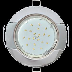 "Ecola GX53 H4 9012 светильник встраив. без рефл. ""Волна"" хром-серебро 38x116 (к+)"