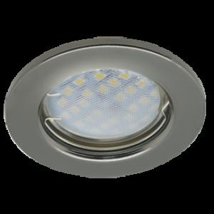 Ecola Light MR16 DL90 GU5.3 Светильник встр. плоский Черный Хром 30x80 (кd74)