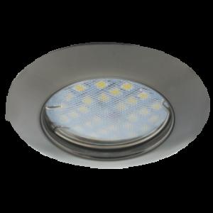 Ecola Light MR16 DL92 GU5.3 Светильник встр. выпуклый Черный Хром 30x80 (кd74)