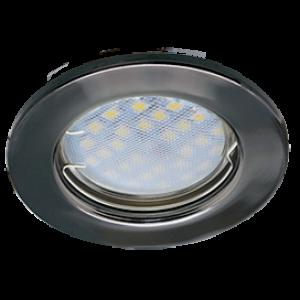 Ecola Light MR16 DL90 GU5.3 Светильник встр. плоский Черный Хром 30x80 - 2pack (кd74)