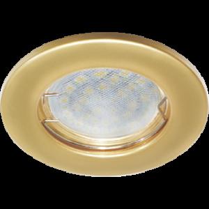 Ecola Light MR16 DL90 GU5.3 Светильник встр. плоский Перламутровое золото 30x80 (кd74)