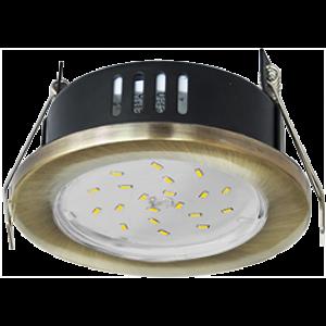 Ecola GX53 H9 защищенный IP65 светильник встраив. без рефл. черненая бронза 98х55