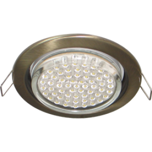Ecola GX53 H4 светильник встраив. без рефл.  Черненая бронза 38x106 - 2pack (кd102)