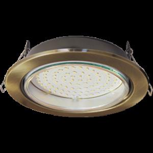 Ecola GX70-H5 светильник встраив. без рефл. Черненая бронза 53x151 (кd135)