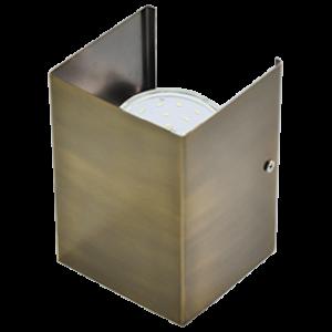 Ecola GX53-N52 светильник настенный бра прямоугольный черненая бронза 2* GX53 100х140х90 (1 из цв. уп. по 2)