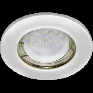 Ecola Light MR16 DL90 GU5.3 Светильник встр. плоский Перламутровое серебро 30x80 - 2pack (кd74)
