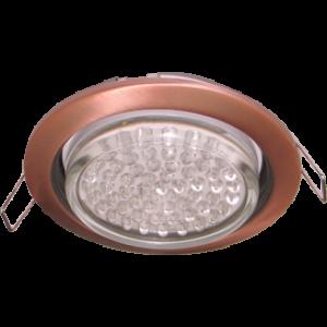 Ecola GX53 H4 светильник встраив. без рефл.  Черненая медь 38x106 - 2pack (кd102)