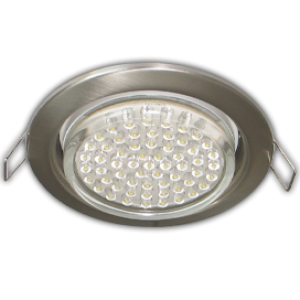 Ecola GX53 H4 Downlight without reflector_satin chrome (светильник) 38х106 - 10 pack (кd102)