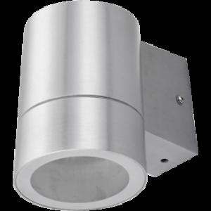 Ecola GX53 LED 8003A светильник накладной IP65 прозрачный Цилиндр металл. 1*GX53 Cатин-хром 114x140x90