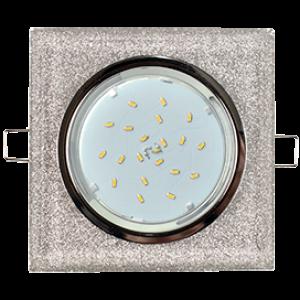 Ecola GX53 H4 5311 Glass Стекло Квадрат скошенный край Хром - серебряный блеск 38x120x120 (к+)