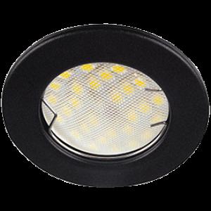 Ecola Light MR16 DL90 GU5.3 Светильник встр. плоский Черный матовый 30x80 - 2pack (кd74)