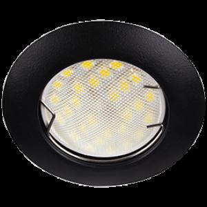 Ecola Light MR16 DL92 GU5.3 Светильник встр. выпуклый Черный матовый 30x80 - 2pack (кd74)