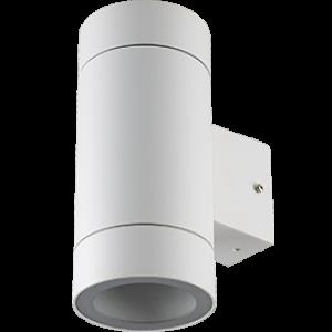Ecola GX53 LED 8013A светильник накладной IP65 прозрачный Цилиндр металл. 2*GX53 Белый матовый 205x140x90