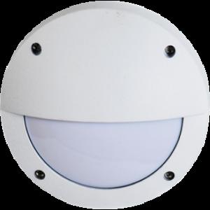 Ecola GX53 LED B4140S светильник накладной IP65 матовый Круг с ресничкой алюмин. 1*GX53 Белый 145x145x65