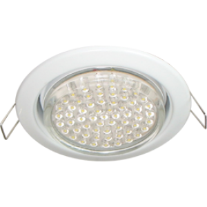 Ecola GX53 H4 Downlight without reflector_white (светильник) 38x106 - 2pack (кd102)