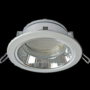 Ecola GX70-H6R светильник белый встр. с рефл.  65x171