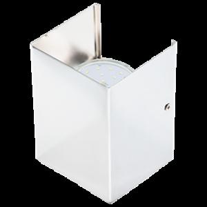Ecola GX53-N52 светильник настенный бра прямоугольный белый 2* GX53 100х140х90 (1 из цв. уп. по 2)