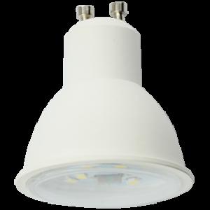 Ecola Reflector GU10  LED  8,0W  220V 2800K прозрачное стекло (композит) 57x50