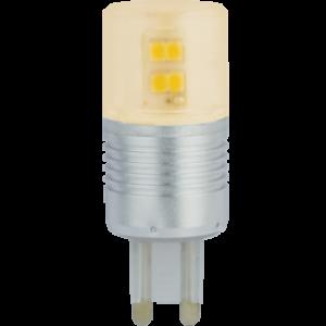 Ecola G9  LED  4,1W Corn Mini 220V золотистый 300° (алюм. радиатор) 65x23