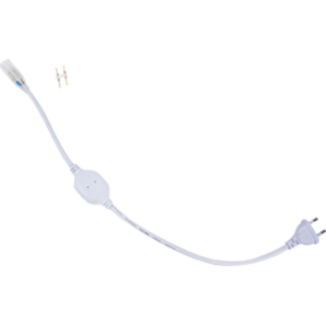 Ecola LED strip 220V блок питания (IP20) 1500W для ленты 220V 12x7 IP68 с кабелем, муфтой, разъемом и вилкой