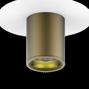 LED светильник накладной HD001 12W (кофе золото) 3000K 79x100,900лм, 1/30