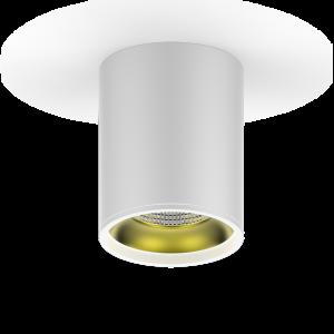 LED светильник накладной HD010 12W (белый золото) 3000K 79x100,900лм, 1/30