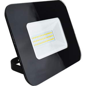 Ecola Projector  LED  30,0W 220V 6000K IP65 Светодиодный Прожектор тонкий Черный 154x124x40