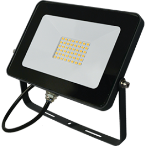 Ecola Projector  LED  20,0W 220V 4200K IP65 Светодиодный Прожектор тонкий Черный 146x102x17