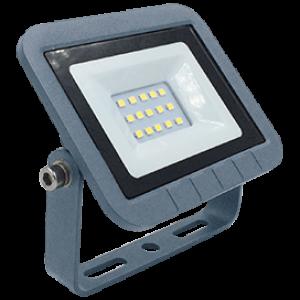 Ecola Projector  LED  10,0W 220V 4200K IP65 Светодиодный Прожектор тонкий Серебристо-серый 115x80x14