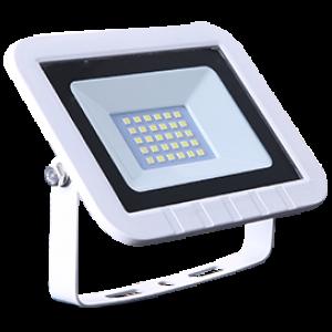 Ecola Projector  LED  20,0W 220V 2800K IP65 Светодиодный Прожектор тонкий Белый 135x100x30