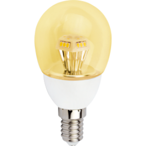 Ecola globe   LED  4,2W G45 220V E14 золотистый прозрачный шар искристая пирамида (композит) 90x45