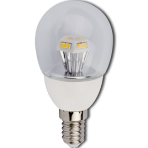 Ecola globe   LED  4,2W G45 220V E14 4000K прозрачный шар искристая пирамида 90x45