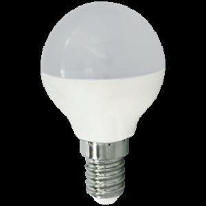 Ecola globe   LED  5,4W G45  220V E14 4000K шар (композит) 77x45