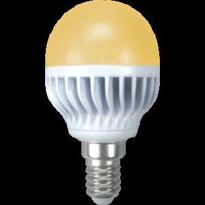 Ecola globe   LED  7,0W G45 220V E14 золотистый шар (ребристый алюм. радиатор) 81x45