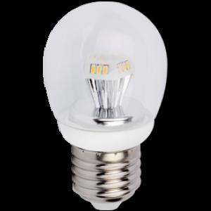 Ecola globe   LED  4,2W G45 220V E27 4000K прозрачный шар искристая пирамида 84x45