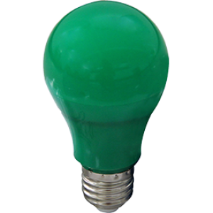 Ecola classic   LED color 12,0W A60 220V E27 Green Зеленая 360° (композит) 110x60