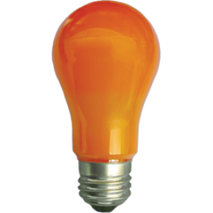 Ecola classic   LED color  8,0W A55 220V E27 Orange Оранжевая 360° (композит) 108x55