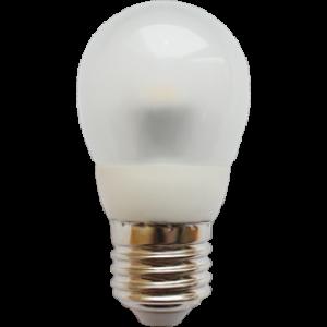 Ecola globe   LED  4,2W G45 220V E27 2700K полуматовый шар искристая пирамида 84x45