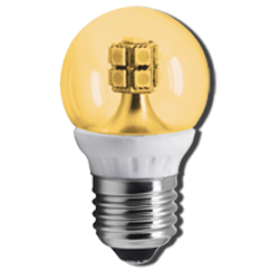 Ecola globe   LED  4,0W G45 220V E27 золотистый 320° прозрачный шар искристая точка (керамика) 76х45