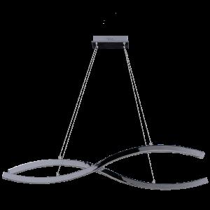 Светодиодная люстра BENETTI LED Geometria хром, 60Вт 3000K, 3400 Lm, коллекция LED-025