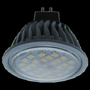 Ecola MR16   LED  7,0W 220V GU5.3 2800K прозрачное стекло (ребристый алюм. радиатор) 51x50