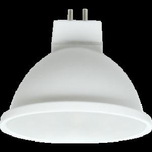 Ecola MR16   LED  5,4W 220V GU5.3  6000K матовое стекло (композит) 52x50