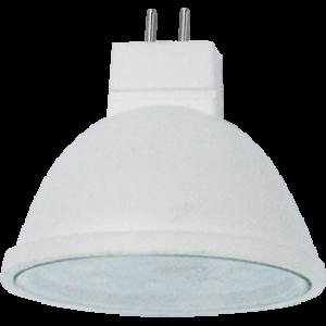 Ecola MR16   LED  5,4W 220V GU5.3  4200K прозрачное стекло (композит) 48x50