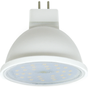 Ecola MR16   LED  7,0W  220V GU5.3 2800K прозрачное стекло (композит) 48x50