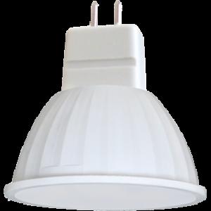 Ecola MR16   LED  4,2W 220V GU5.3 4200K прозрачное стекло (композит) 42x50