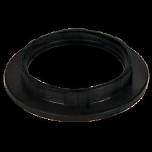 Ecola base Кольцо дополнительное к патрону E27 Черный (1 из уп. по 100)